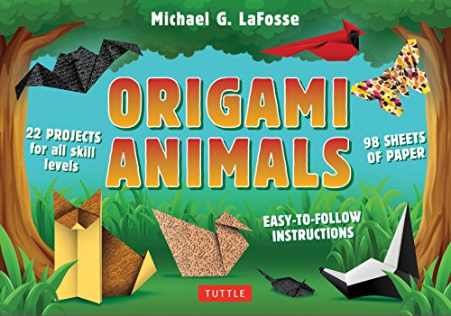 Price comparison product image Origami Animals Kit: Make Colorful and Easy Origami Animals: Kit Includes Origami Book, 98 High-Quality Papers and 21 Original Projects