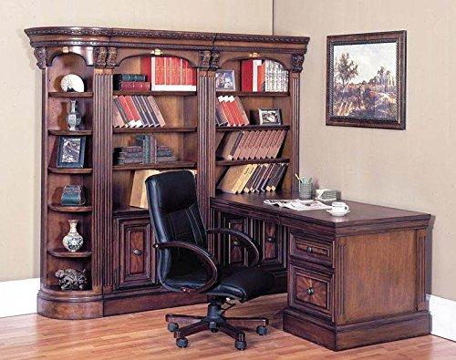 (4 Pc Corner Peninsula Desk Wall Unit Set - Huntington)