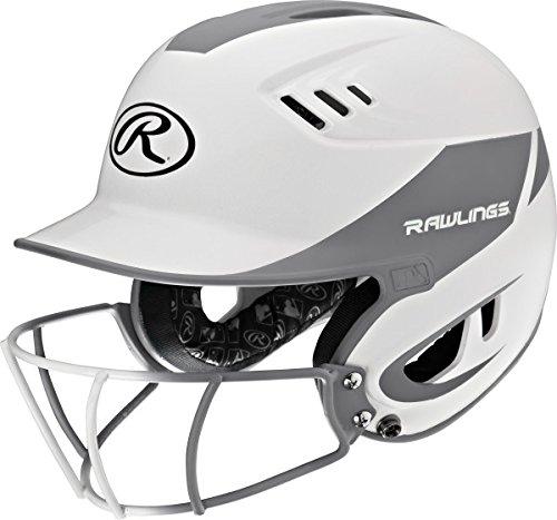 (Rawlings Sporting Goods Junior Velo Sized Softball Helmet, White Silver)