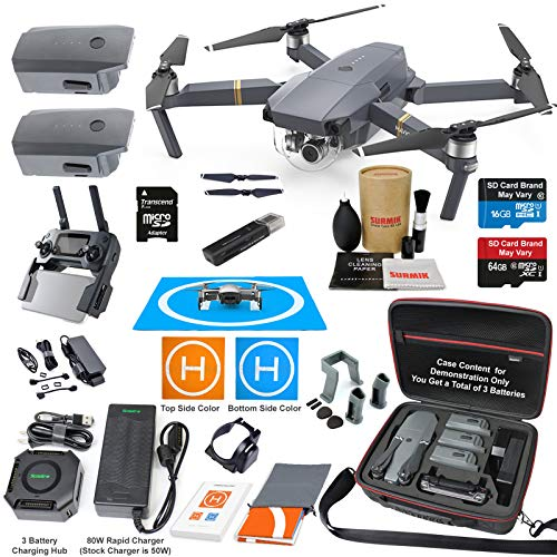 DJI Mavic Pro Drone Quadcopter Elite Combo with 3 Batteries, 4K Professional Camera Gimbal Bundle...