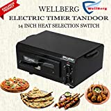 Wellberg Electric Timer Tandoor with Recipe Book, Gloves, Magic Cloth