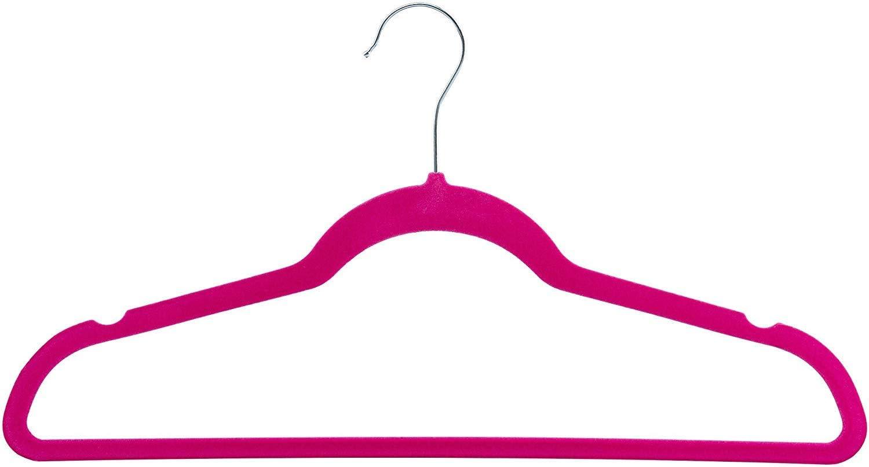 50 Pack Clothes Hangers Hot Pink Velvet Hangers Clothes Hanger Ultra Thin No Slip
