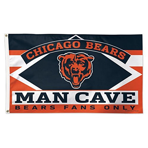 Chicago Outdoor Wall - Five Star Flags New Chicago Bears Flag, Bears Flag, Flag for Indoor or Outdoor Use, 100% Polyester, 3 x 5 Feet.