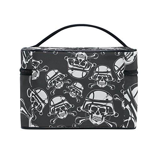 Sugar Skull Dia De Los Muertos Portable Travel Makeup Cosmetic Bags Toiletry Organizer Multifunction Case ()