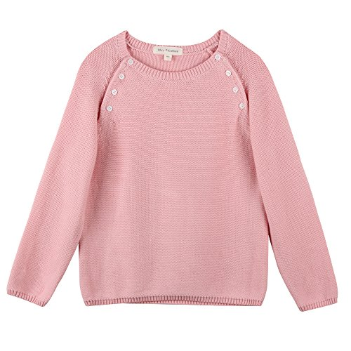 14b6c8c0a6cd Mini Phoebee Little Girls  Long Sleeve Crew Neck Pullover Sweater ...