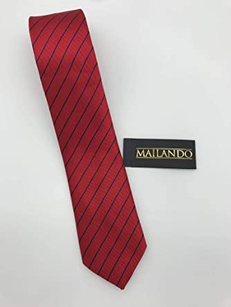corbata de Mayo Lando, con rayas, color rojo - Color Azul Oscuro ...