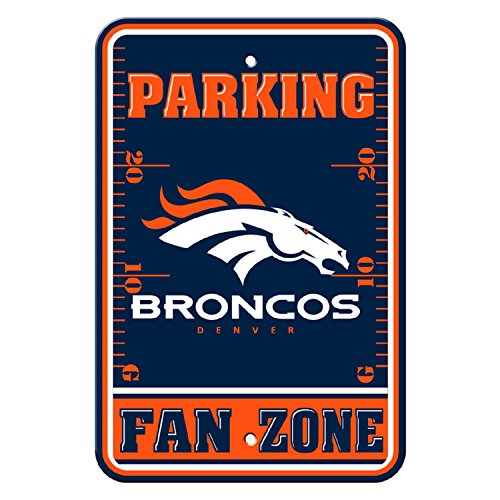 Denver Broncos Parking Sign - Flagpole To Go NFL Denver Broncos Parking Sign