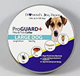 Dog Flea Treatment Collar - Flea and Tick Collar for Dogs and Puppies by Diamond's Dog Depot - Best Pet Protection Kills, Repels, & Prevents Fleas, Pests, Insects for up to 6 Months - Waterproof - Stops Bites & Itching