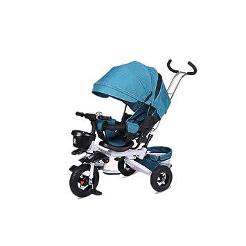 Hjd-cochecito El Triciclo Plegable para niños, Carro de Descanso para bebés, Carro de Juguete de 1-3 años con Carro de Paraguas (Color : D): Amazon.es: ...