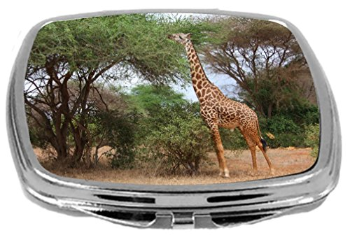 Rikki Knight Compact Mirror, Giant Giraffe, 3 Ounce
