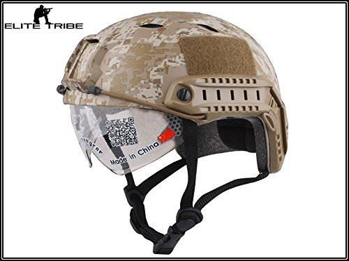casco de paintball militar casco táctico de combate FAST BJ tipo y gafas digitales desierto Military Outdoor