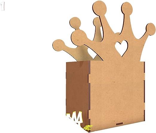 X 3 Kit para hacer caja-corona para chuches de madera DM para ...