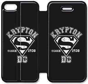 Del Funda del tirón del cuero de la PU del soporte para el Funda iPhone 5 de 5S, Bricolaje 5 caja del teléfono celular 5S Superman! Funda iPhone E2X1KJ tapas de cuero Volver