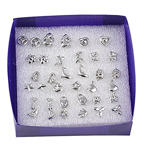 Price comparison product image 18 Pairs/lot Mixed Styles 925 Sterling Silver Studs Earring Platinum Jewelry