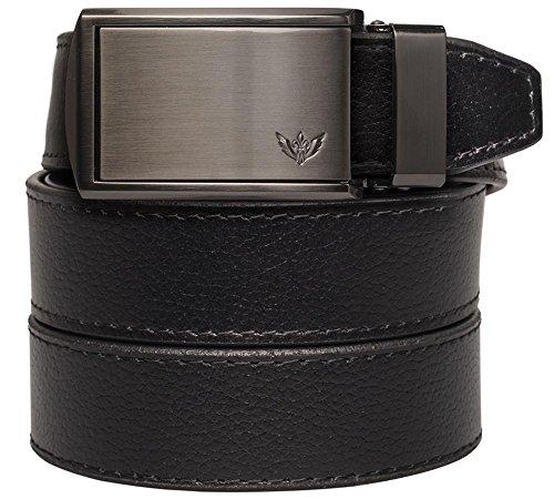 SlideBelts Men's Winged Logo Leather Ratchet Belt - Custom Fit