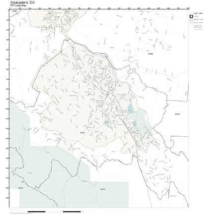 Amazon.com: ZIP Code Wall Map of Atascadero, CA ZIP Code Map