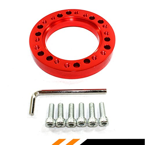 1/2 Steering Wheels - 1/2'' STEERING WHEEL HUB ADAPTER SPACER FOR NARDI PERSONAL SPARCO OMP MOMO (RED)