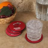 The Memory Company NBA Miami Heat Official Neoprene Travel Car Coasters (4 Pack), Multicolor, One Size