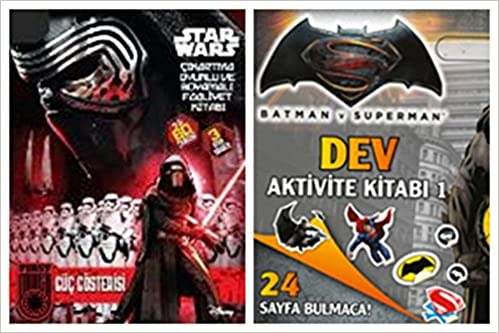 Batman Ve Superman Dev Aktivite Kitabı 1disney Starwars çıkartma