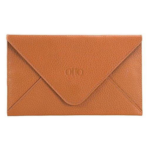 Otto Genuine Leather Wallet |RFID Blocking, Multiple Slots Money, ID, Cards, Smartphone| - Unisex (Light ()