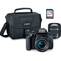 Canon EOS Rebel T7i Digital SLR Camera Kit with EF-S 18-55mm STM + ES100 Case + 32GB Class 10 SD Card - International Version