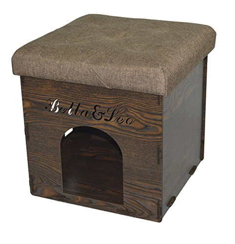 Fsobellaleo Linen Kd Storage Ottoman Dog House Footrest