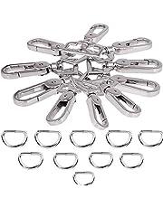 JAKAGO 20 stks 1 inch D-ringen en metalen Swivel Trigger Snap Haken Clips Gespen Sluiting voor DIY Hardware Handtas Purse Tassen Bagage Sleutelhangers