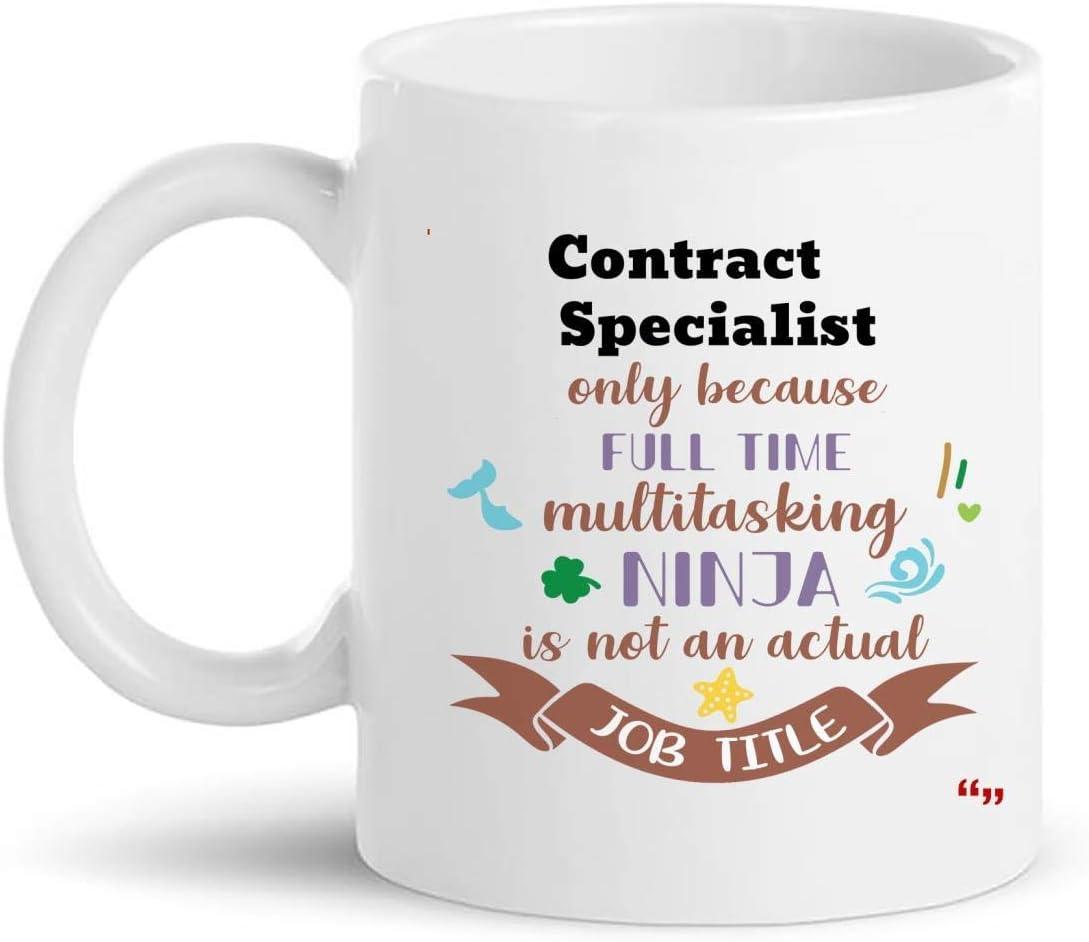 Not Applicable La Mejor Taza del especialista del Contrato Taza de café de 11 oz - Regalo del especialista del Contrato Regalos Personalizados para Hombres Camisetas de Mujer Tazas Tazas
