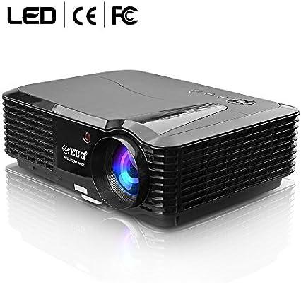 EUG LED LCD WXGA HD Proyector 4500 lúmenes con Altavoces ...