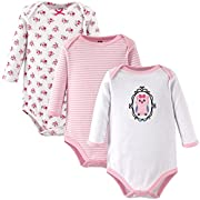 Hudson Baby Baby 3 Pack Long Sleeve Bodysuits, Owl, 3-6 Months