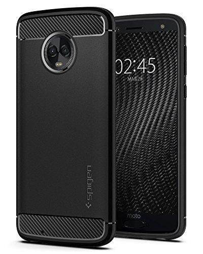 Spigen Rugged Armor Moto G6 Case Flexible Durable Shock Absorption Carbon Fiber Design Motorola Moto G6 (2018) - Black by Spigen (Image #9)