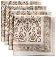 Maison d' Hermine Allure 100% Cotton Soft and Comfortable Set of 4 Napkins Perfect for Family Dinners | We