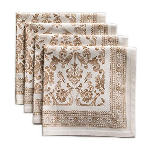 Maison d Hermine Allure 100% Cotton Set of 4 Napkins 20 Inch by 20 Inch.