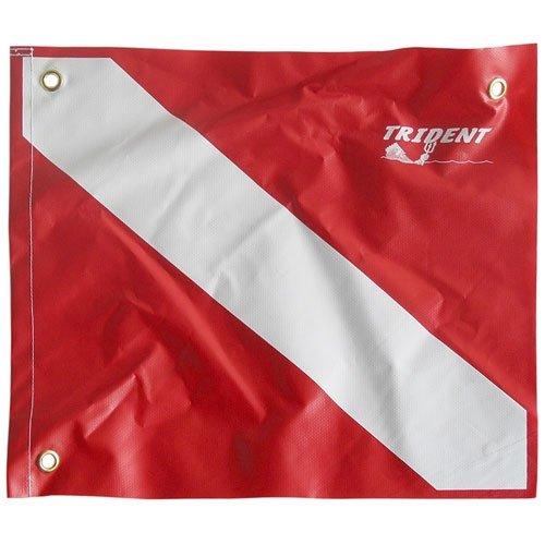 """Aqua Heavy Duty Poly Coated Nylon Dive Flag, 14"""" X 16"""""""