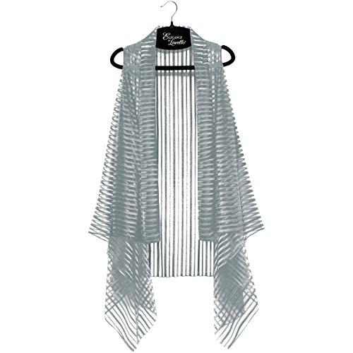 Lavello Sheer Designer Vest, Graphite Stripe from Lavello
