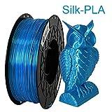 CCTREE Shiny Silk Ocean Blue PLA 1.75mm 3D Printing Filament for Creality CR-10 V2,CR-10S, Ender 3 Pro,Ender 5 Pro,S5,1kg Spool (2.2lbs)