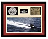 Navy Emporium USS Guardfish SSN 612 Framed Navy Ship Display Burgundy