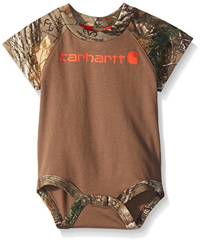 Carhartt Boys' Short Sleeve Bodyshirt,  Canyon Brown,  12 Months