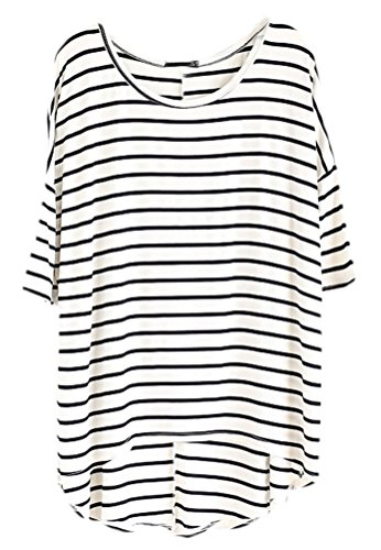 Soojun Womens Casual Striped T shirts