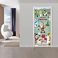 HDPOIUY Puerta Etiqueta De La Pared De Dibujos Animados ...