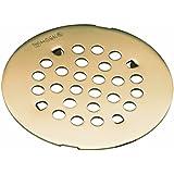 Moen 101663AZ Kingsley 4-1/4-Inch Snap-In Shower Drain Cover, Antique Bronze