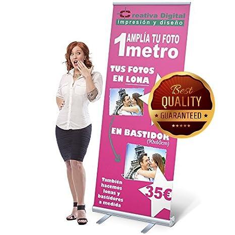 Banner pantalla Banner FLM Low Budget| Roll Banner Roll-up ROLL/_UP IMPRESI/ÓN INCLU/ÍDA Roll Up Feria atril Online dise/ñar Feria Banner | 120x200 Banner Display