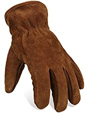 OZERO Insulated Gloves Cold Proof Leather Winter Work Glove Thick Thermal for Working in Cold Weather