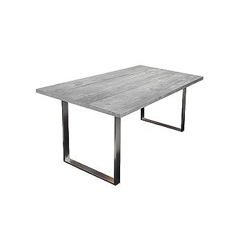 An Original By Storado Steel Esstisch 0546 180 90 Beton Amazon De