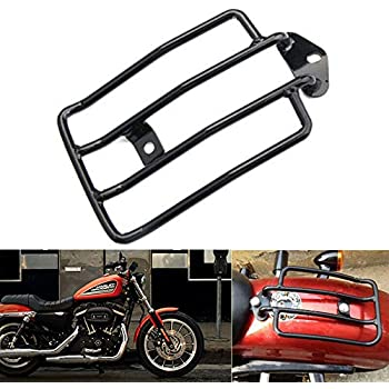 7 KaTur Motorcycle Luggage Rack Support Shelf Fits Rear Solo Seat 180mm Black Fit for Harley Harley XL Sportsters Iron 48 883 XL1200 2004-2018