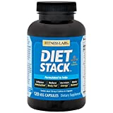 Fitness Labs Diet Stack with Green Tea, Sinetrol XPUR Extracts, L-Tyrosine, Caffeine, Ashwagandha, Cayenne Pepper, Garcinia Cabogia, Green Coffee, Ginger, BioPerine® and More, 120 Capsules