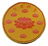 19' Round Foam Yellow Lotus Flower Buddhist Pray Meditation Prayer Pillow Pad Mat Cushion Good Luck (yellow)