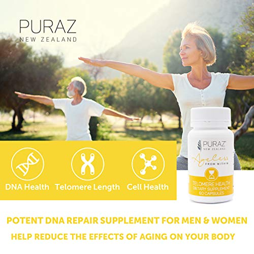 510x698mREL - Puraz Telomere Supplements with Potent Astragalus Root Extract for Superior Immune System Support, Anti-Aging and DNA Repair - Pure Telomerase Enzyme for Telomere Lengthening and Support - 60 Capsules
