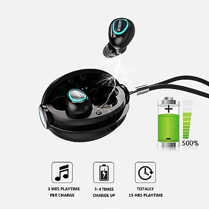 Mini Auricular Bluetooth 4.2 Inalambricos Invisible TWS Auriculares Bluetooth Manos Libres Deportivo IPX5 Estéreo y Cancelación