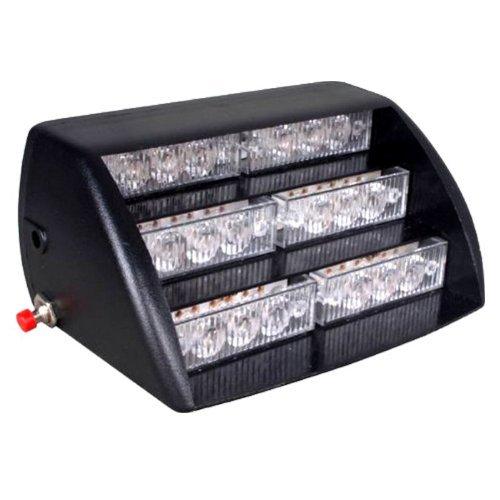 HQRP 18 LED Vehicle Emergency 12V Strobe Amber / White Warning Light for Front Grille / Deck + HQRP UV Meter